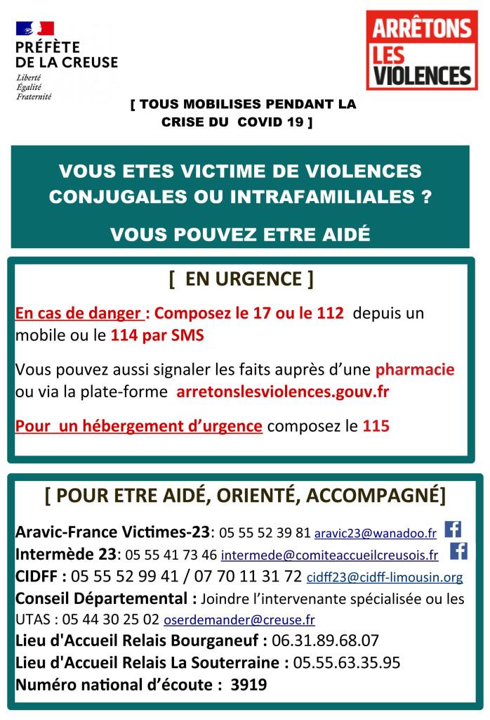 Affiche violences conjugales crise COVID novembre 2020