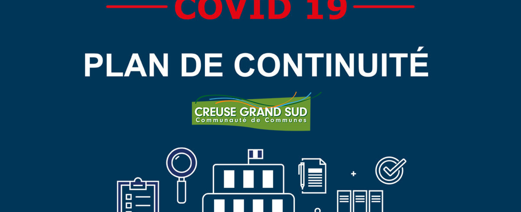 Plan de continuité des services Creuse Grand Sud – 2 avril 2021