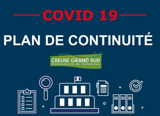 [Covid19] INFORMATIONS SUR LA CONTINUITÉ DES SERVICES DE CREUSE GRAND SUD – 3Nov2020