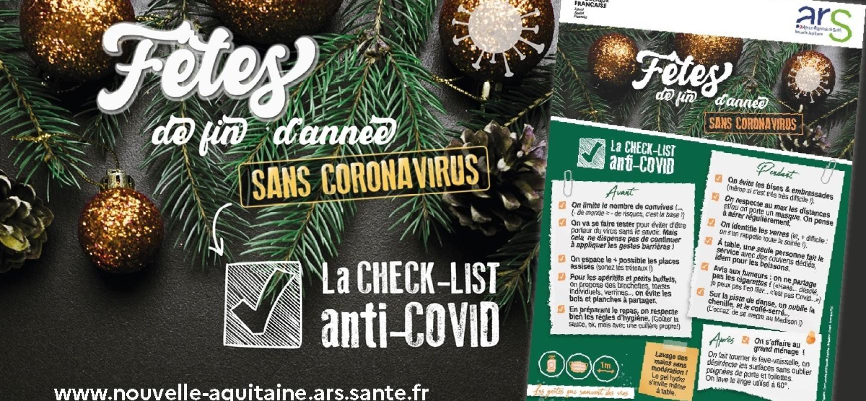 [Covid19] Check-lists conseils pour des fêtes sans COVID
