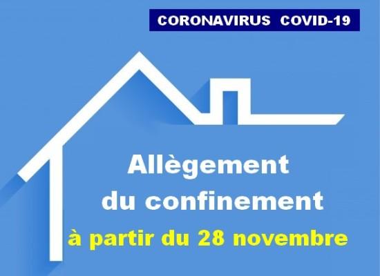 [Covid19] Le confinement national se prolonge mais de façon allégée – 27 novembre 2020