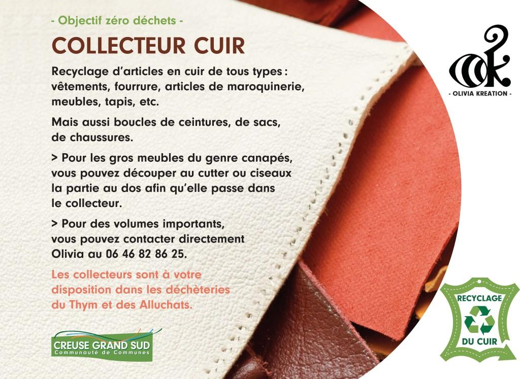 collecteur cuir