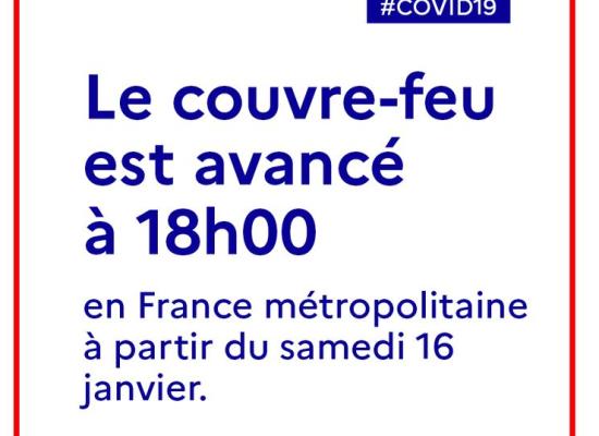 [Covid19] Le couvre feu avancé à 18h à partir de samedi 16 janvier