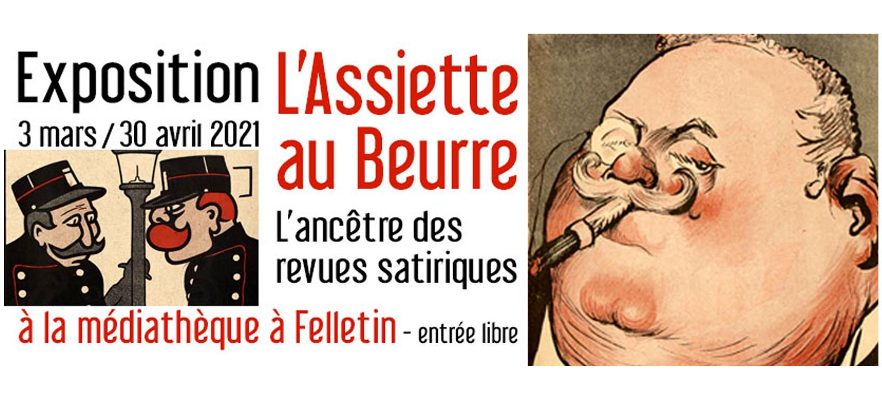 [Exposition] «L'Assiette au Beurre»  du 3 mars au 30 avril 2021à la médiathèque #Felletin