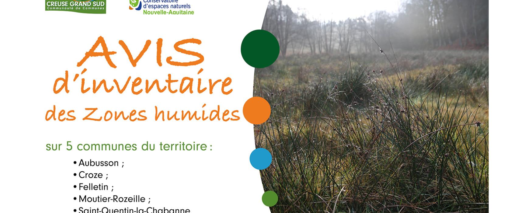 Service Environnement : avis d'inventaire de zones humides – mai, juin et juillet 2021