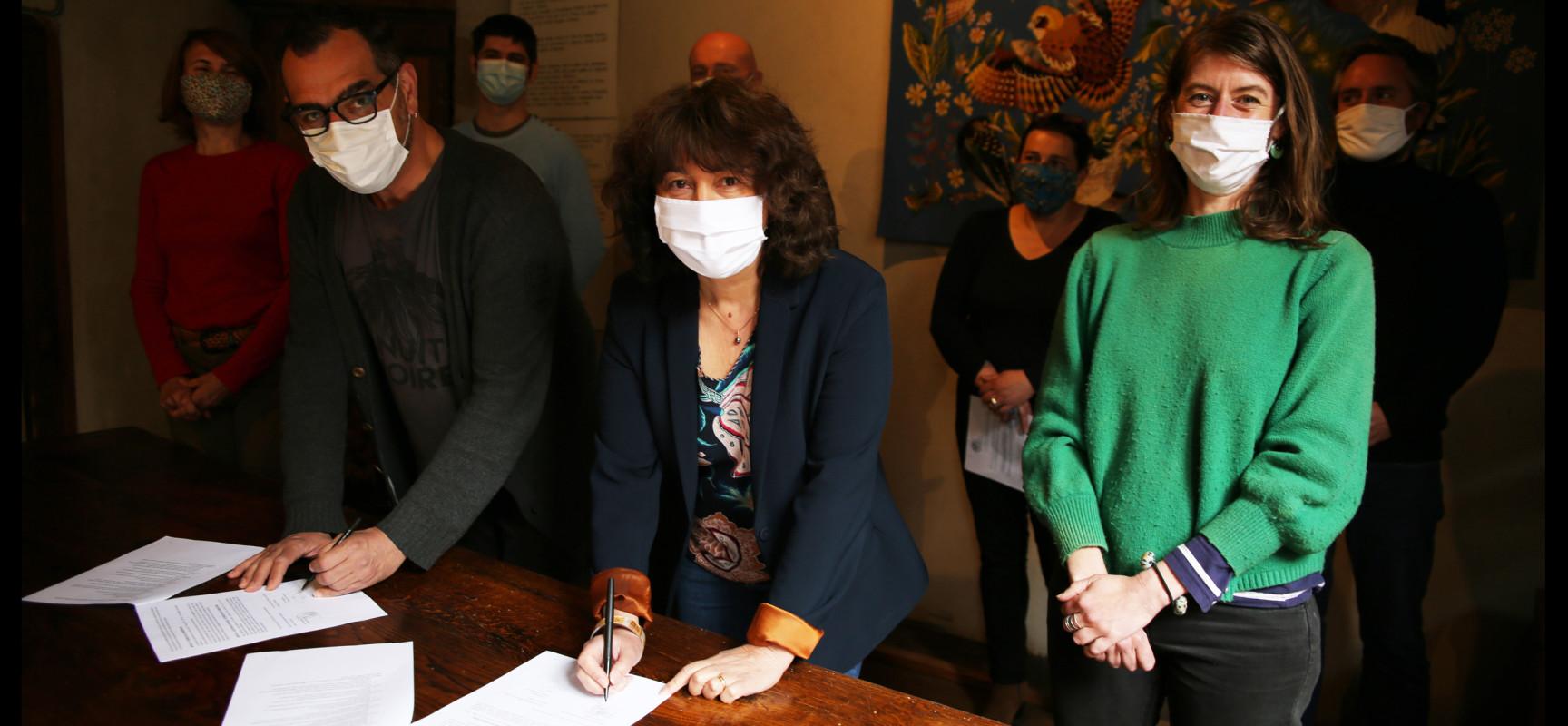 La Communauté de communes Creuse Grand Sud et l'Office de Tourisme Aubusson-Felletin ont signé une convention d'objectifs et de moyens