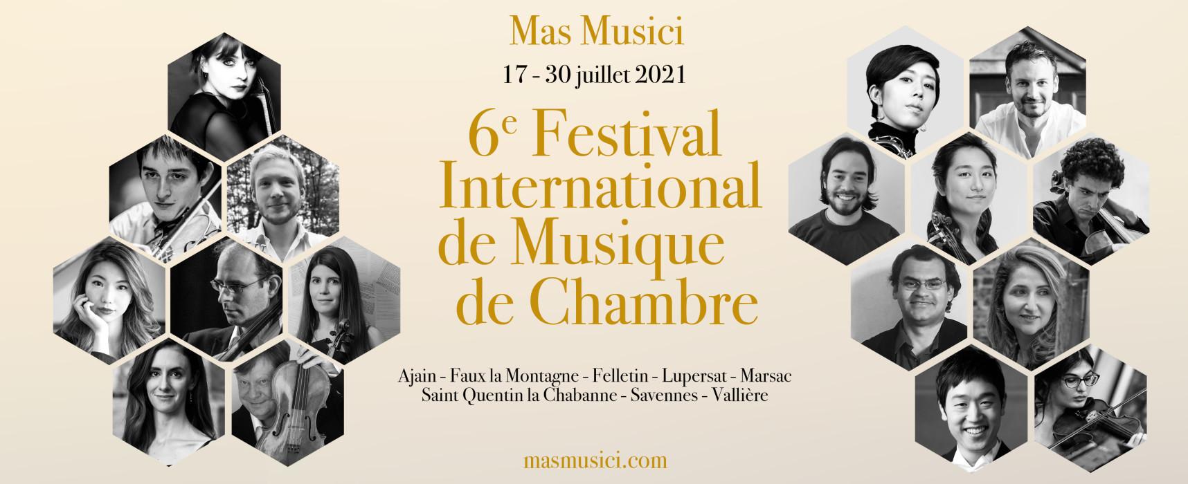Mas Musici – 6e Festival International de Musique de Chambre – du 17 au 30 juillet 2021