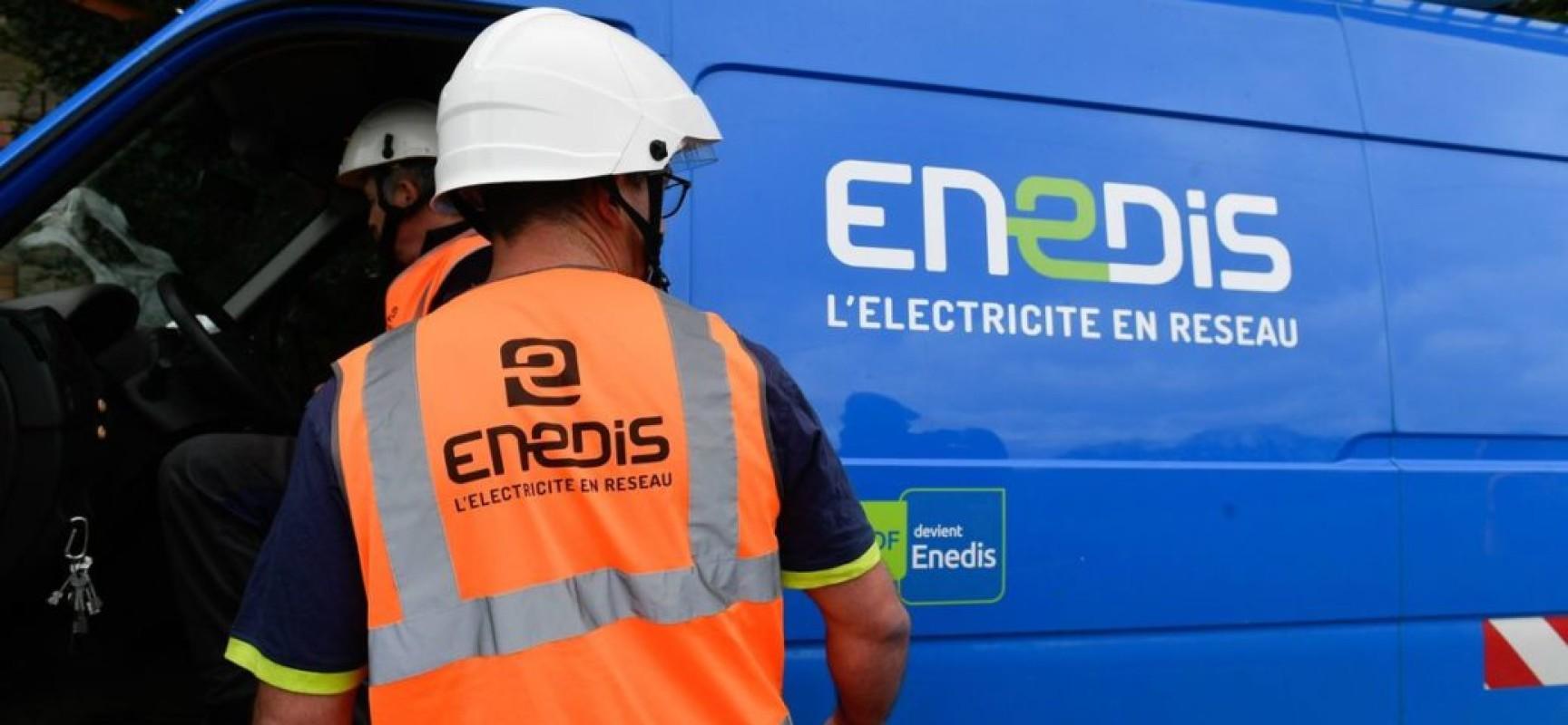 Message d'Enedis, démarchage commercial frauduleux – Juillet 2021