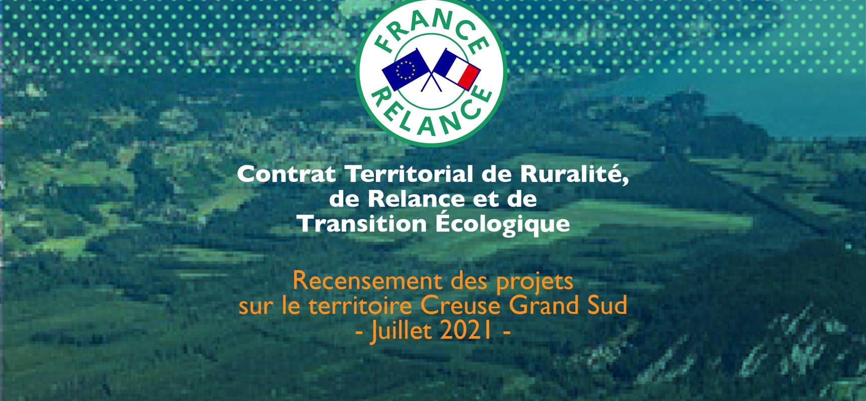 CTRRTE* – Recensement des projets sur le territoire Creuse Grand Sud – Juillet 2021