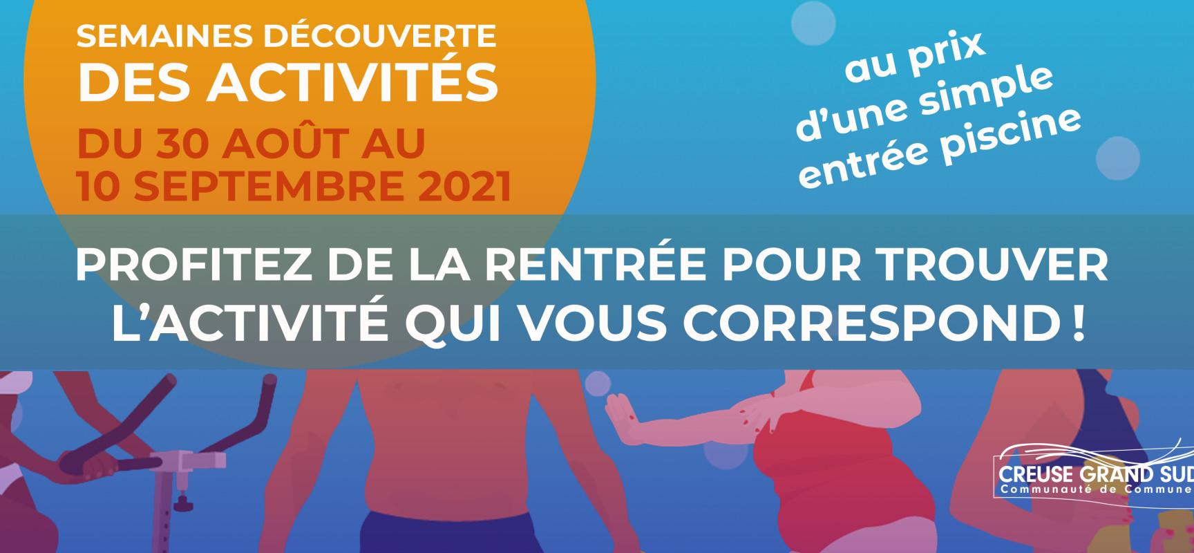 AQUASUD prépare la rentrée – Semaines de découverte des activités 2021/2022