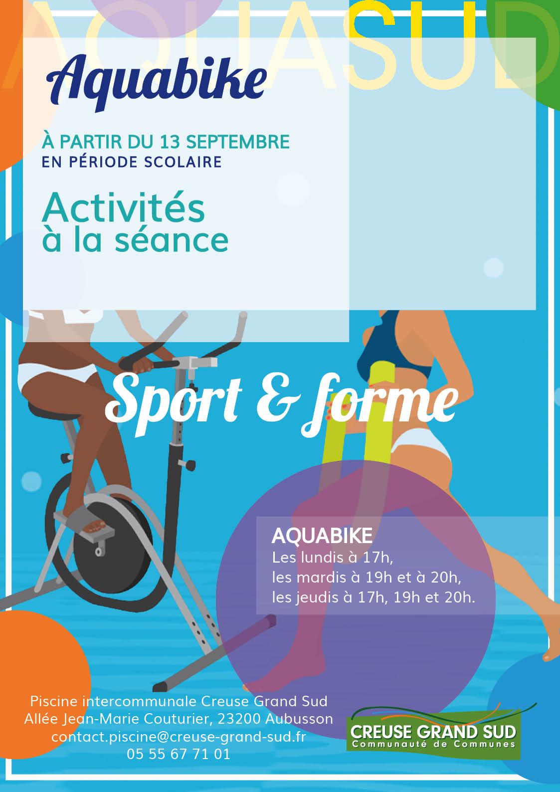 Affiche bike fitness rentrée 2019