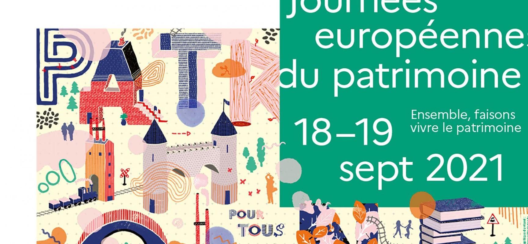 38ème édition des Journées Européennes du Patrimoine #JEP2021