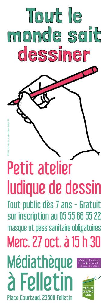 Affiche atelier dessin octobre 21 web