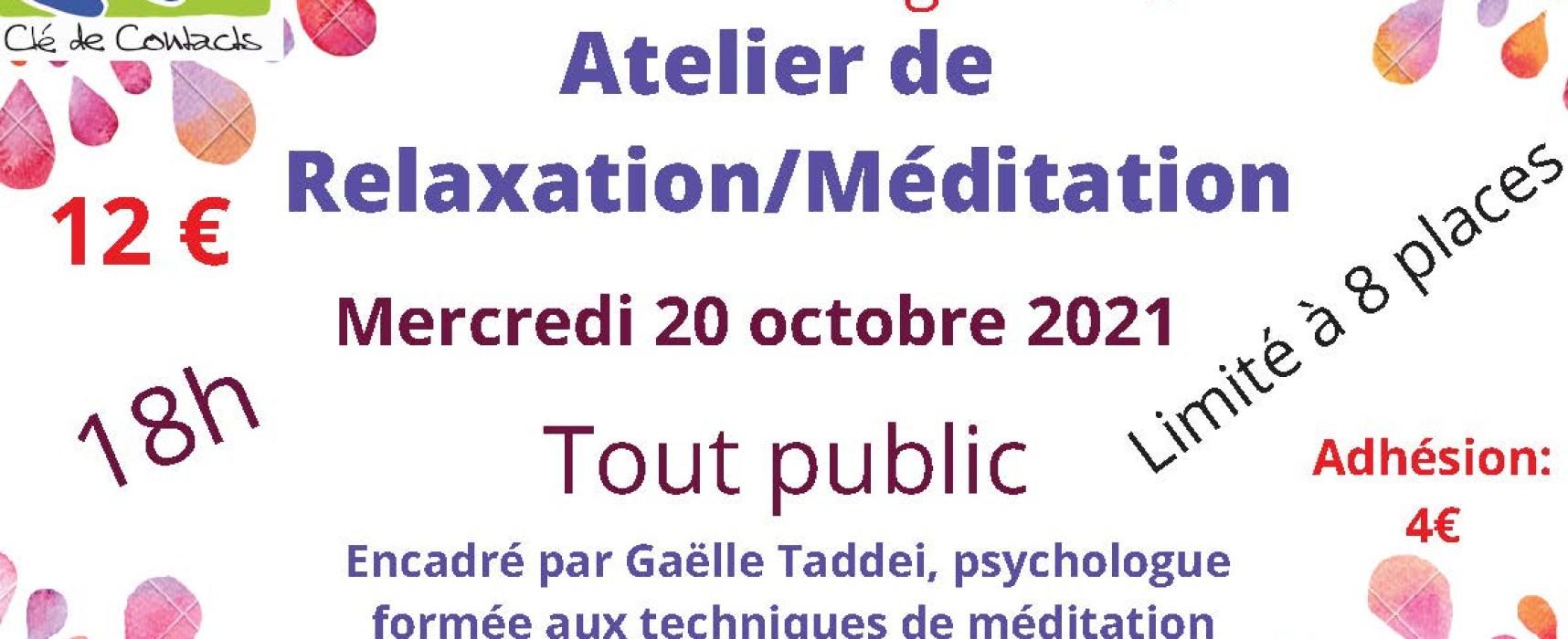 Atelier de relaxation / méditation – Clé2Contacts – Aubusson